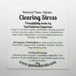Yum Naturals Emporium - Bringing the Wisdom of Nature to Life - Clearing Stress Tisane Blend