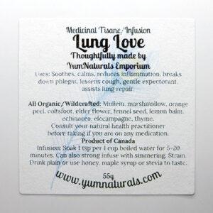 Yum Naturals Emporium - Bringing the Wisdom of Nature to Life - Lung Love Herbal Medicinal Tisane