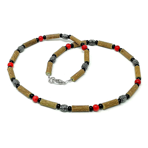 YumNaturals Emporium - Bringing the Wisdom of Mother Nature to Life - Hazelwood Red Coral Necklace Medieval Style 1