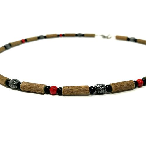 YumNaturals Emporium - Bringing the Wisdom of Mother Nature to Life - Hazelwood Red Coral Necklace Medieval Style 2