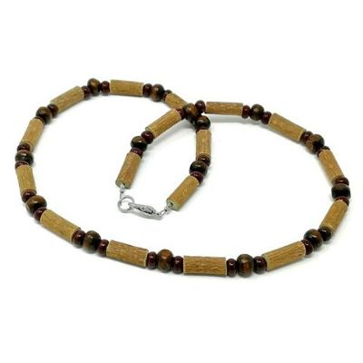 YumNaturals Emporium - Bringing the Wisdom of Mother Nature to Life - All Brown Hazel Wood Necklace_1