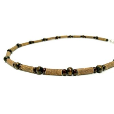 YumNaturals Emporium - Bringing the Wisdom of Mother Nature to Life - All Brown Hazel Wood Necklace_2
