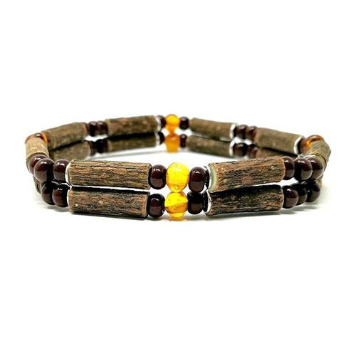 YumNaturals Emporium - Bringing the Wisdom of Mother Nature to Life - Hazelwood Baltic Amber Double Bracelet 1