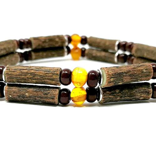 YumNaturals Emporium - Bringing the Wisdom of Mother Nature to Life - Hazelwood Baltic Amber Double Bracelet 2