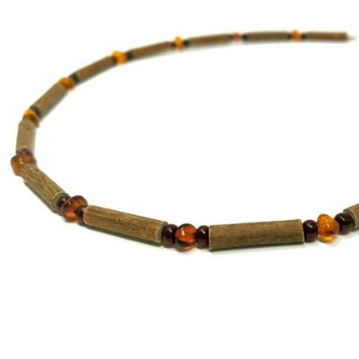 YumNaturals Emporium - Bringing the Wisdom of Mother Nature to Life - Genuine Amber & Hazelwood Necklace for Babies & Children_2