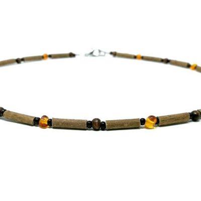 YumNaturals Emporium - Bringing the Wisdom of Mother Nature to Life - Genuine Baltic Amber Hazel Wood Necklace_2