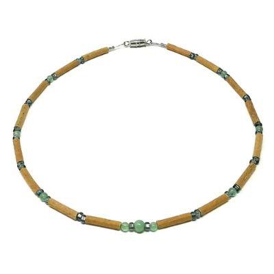 YumNaturals Emporium - Bringing the Wisdom of Mother Nature to Life - Green Aventurine Gem Hazelwood Necklace for Babies & Children_1