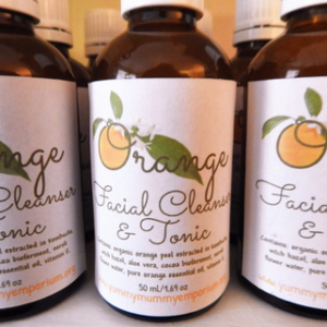 YumNaturals Emporium and Apothecary- Bringing the Wisdom of Mother Nature to Life - Orange Facial Cleanser & Tonic - Handcrafted
