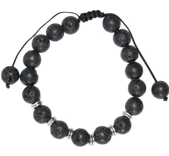 YumNaturals Emporium - Bringing the Wisdom of Nature to Life - Black Lava Bracelet 2