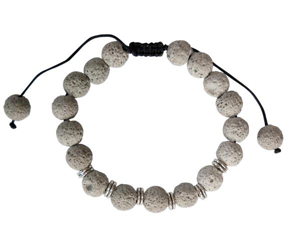 YumNaturals Emporium - Bringing the Wisdom of Nature to Life - Grey Lava Bead Bracelet