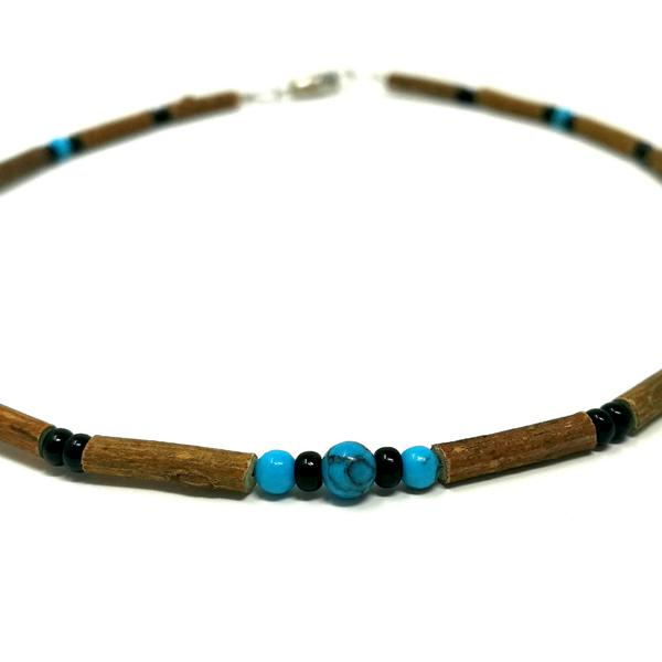 YumNaturals Emporium - Bringing the Wisdom of Mother Nature to Life - Turquoise & Black Hazelwood Necklace for Babies & Children_2