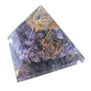 YumNaturals Emporium - Bringing the Wisdom of Nature to Life - Amethyst Orgone Pyramid