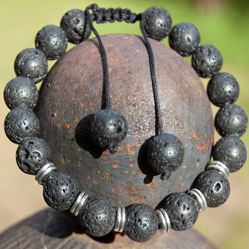 YumNaturals Emporium - Bringing the Wisdom of Nature to Life - Black Lava Bead Bracelet