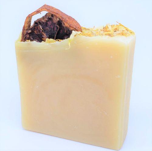 YumNaturals-Emporium-Bringing the Wisdom of Healing to Life-Tangerine-Calendula-Soap