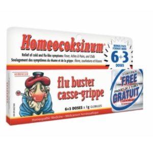 YumNaturals Emporium - Bringing the Wisdom of Mother Nature to Life - Homeocoksinum Flu Buster (6+3 Dose Pack)