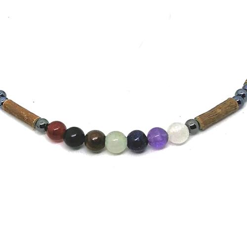 YumNaturals Emporium - Bringing the Wisdom of Mother Nature to Life - Hazelwood Chakra Stones Necklace 2