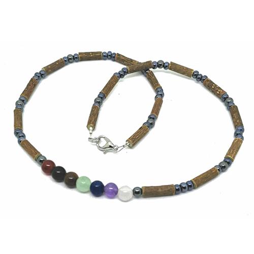 YumNaturals Emporium - Bringing the Wisdom of Mother Nature to Life - Hazelwood Chakra Stones Necklace 1