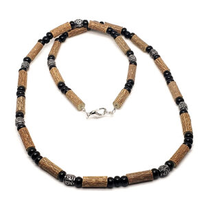 YumNaturals Emporium - Bringing the Wisdom of Mother Nature to Life - Hazelwood All Black Necklace Medieval Style 1