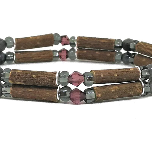 YumNaturals Emporium - Bringing the Wisdom of Mother Nature to Life - Hazelwood Labradorite Double Bracelet 2