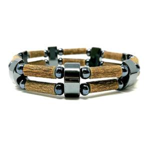 YumNaturals Emporium - Bringing the Wisdom of Mother Nature to Life - Hazelwood All Hematite Double Bracelet 1