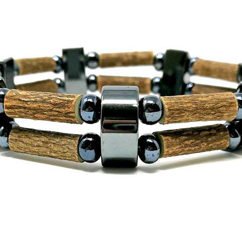 YumNaturals Emporium - Bringing the Wisdom of Mother Nature to Life - Hazelwood All Hematite Double Bracelet 2