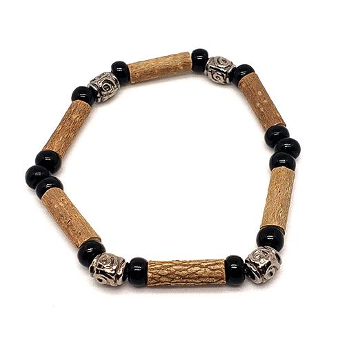 YumNaturals Emporium - Bringing the Wisdom of Mother Nature to Life - Hazelwood Black Single Bracelet Medieval Style 1