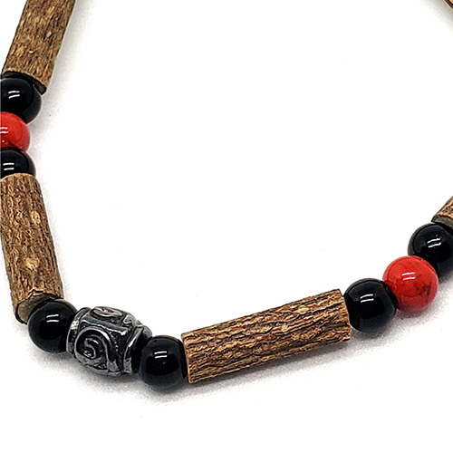 YumNaturals Emporium - Bringing the Wisdom of Mother Nature to Life - Hazelwood Red Coral Single Bracelet Medieval Style 2