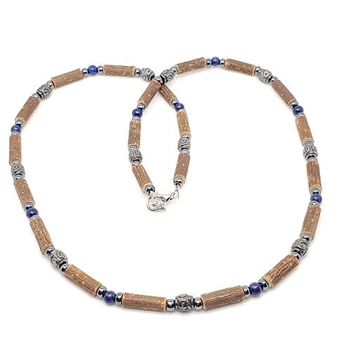 YumNaturals Emporium - Bringing the Wisdom of Mother Nature to Life - Hazelwood Lapis-Lazuli Necklace Medieval Style 1
