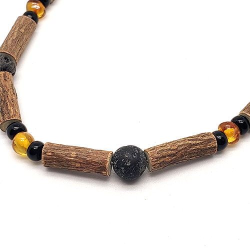 YumNaturals Emporium - Bringing the Wisdom of Mother Nature to Life - Hazelwood Lava Stone Diffuser Baltic Amber Necklace 2