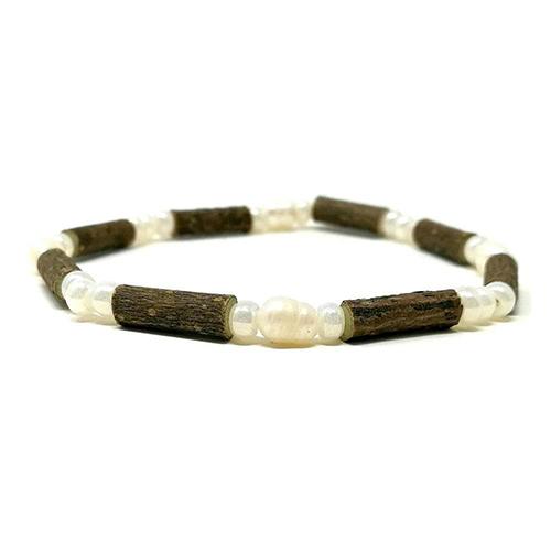 YumNaturals Emporium - Bringing the Wisdom of Mother Nature to Life - Hazelwood Freshwater Pearl Single Bracelet 1