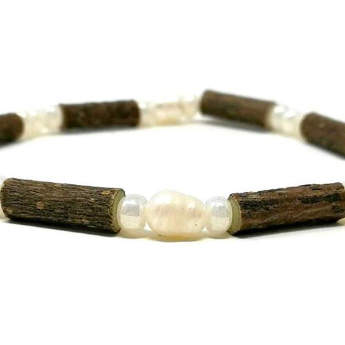 YumNaturals Emporium - Bringing the Wisdom of Mother Nature to Life - Hazelwood Freshwater Pearl Single Bracelet 2