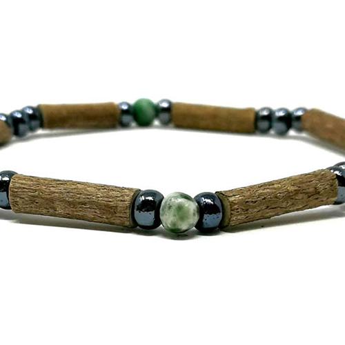 YumNaturals Emporium - Bringing the Wisdom of Mother Nature to Life - Hazelwood Tree Agate Single Bracelet 2