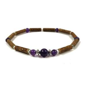YumNaturals Emporium - Bringing the Wisdom of Mother Nature to Life - Hazelwood Amethyst Single Bracelet 1