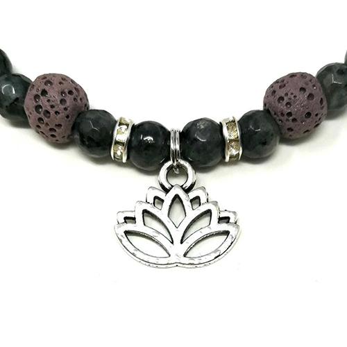 YumNaturals Emporium - Bringing the Wisdom of Mother Nature to Life - Hazelwood Lilac Stone Diffuser Labradorite Single Bracelet Lotus Flower 2