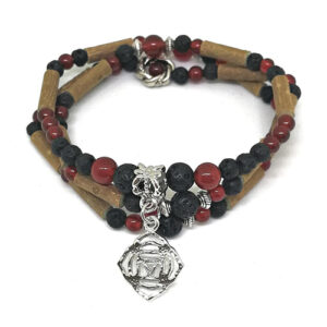 YumNaturals Emporium - Bringing the Wisdom of Mother Nature to Life - Hazelwood Lava Stone Diffuser Red Agate 2-in-1 Root Chakra Charm 1