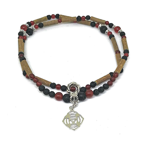 YumNaturals Emporium - Bringing the Wisdom of Mother Nature to Life - Hazelwood Lava Stone Diffuser Red Agate 2-in-1 Root Chakra Charm 3