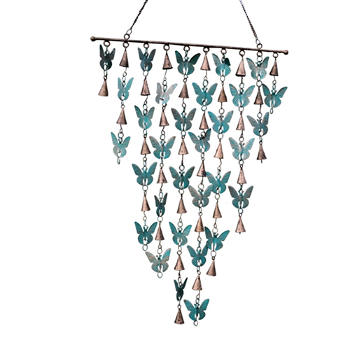 YumNaturals Emporium - Bringing the Wisdom of Nature to Life - Rustic Bell Chime Butterflies with Cone Bells