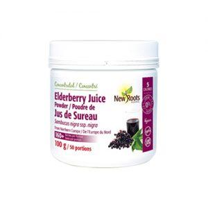 YumNaturals Emporium - Bringing the Wisdom of Mother Nature to Life - New Roots Elderberry Juice Powder