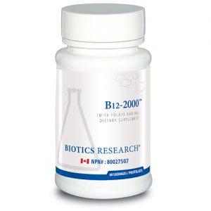 YumNaturals Emporium - Bringing the Wisdom of Nature to Life - Biotics Research B12-2000